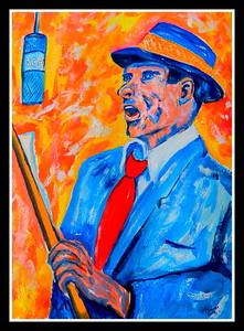Homage to Leroy Neiman - Sinatra. 11x15, acrylic, sep 12, 2016.