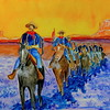 Homage to Frederic Remington - Winter Patrol, 16x20, watercolor & gouache, july 16, 2016 DSCN0154