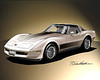1982 CORVETTE ART PRINT BY DANNY WHITFIELD