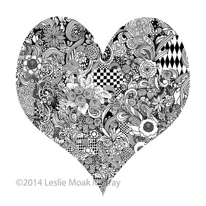 Heart Ink Drawing
