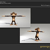 Green Grass Studios Model of Bubbles the monkey.