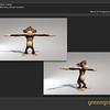 Green Grass Studios Model of Bubbles the monkey.