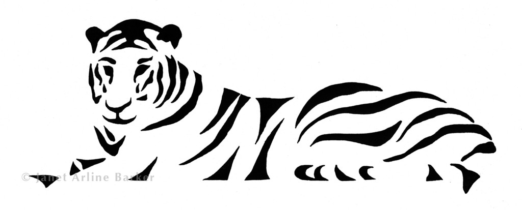 Tiger: Ink illustration used as logo for Indonesian import company.