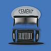 Blue Cement Truck