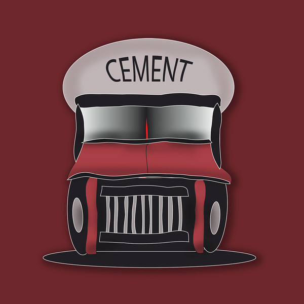 RED Cement Truck