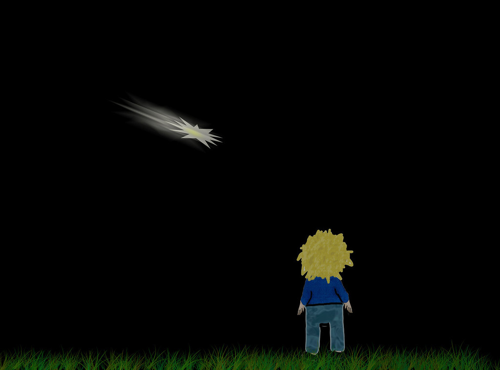 Nighttime Shooting Star