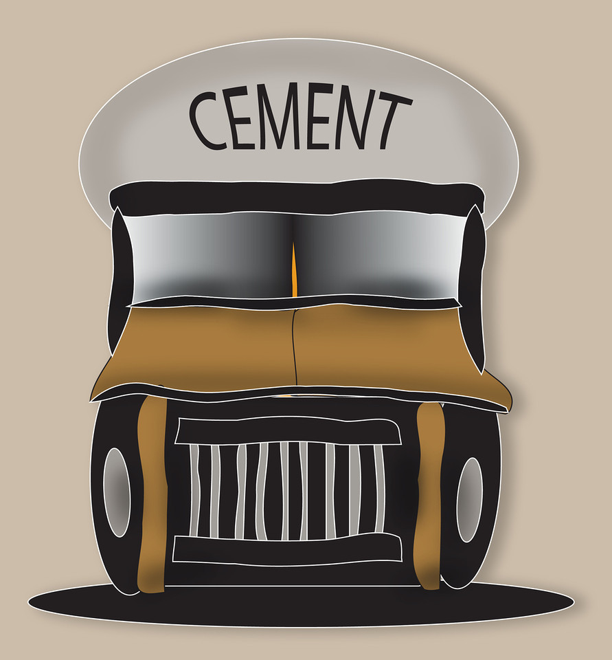 Brown Cement Truck