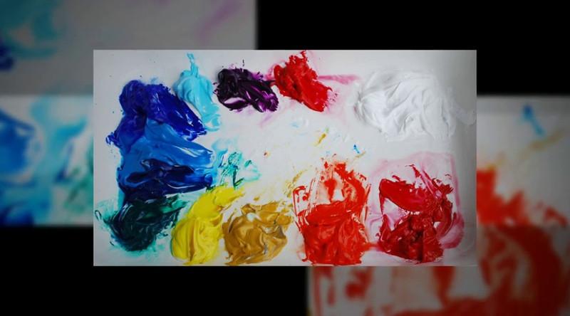 Painting-sand-sea-me