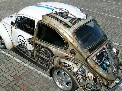 half Herbie, half terminator
