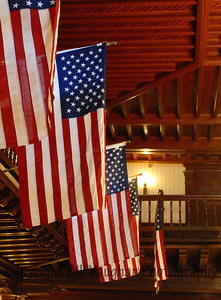 Thanks to all who have fought for our freedom!  Flags at The Del Hotel, Coronado Island