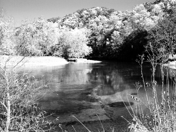 South Bend of the New River north of Crumpler NC