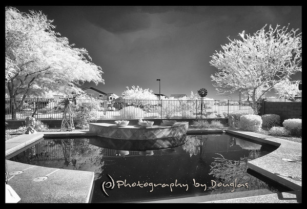 Infrared Architectural Image Converted to Black & White with Nik Silver Efex Pro