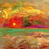 Redon! Color scrapings, light.