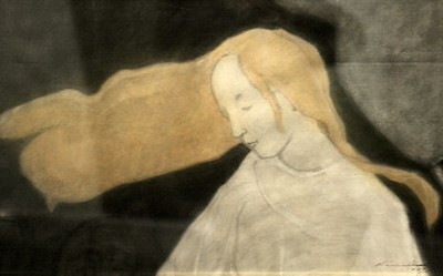 "Helene Schjerfbeck   ""Tree of Life Girl"""