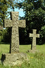 Two crosses in a cemetery
