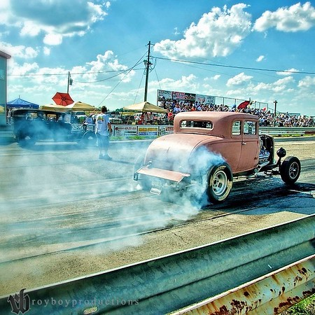 Turning the hides at the HAMB Drags