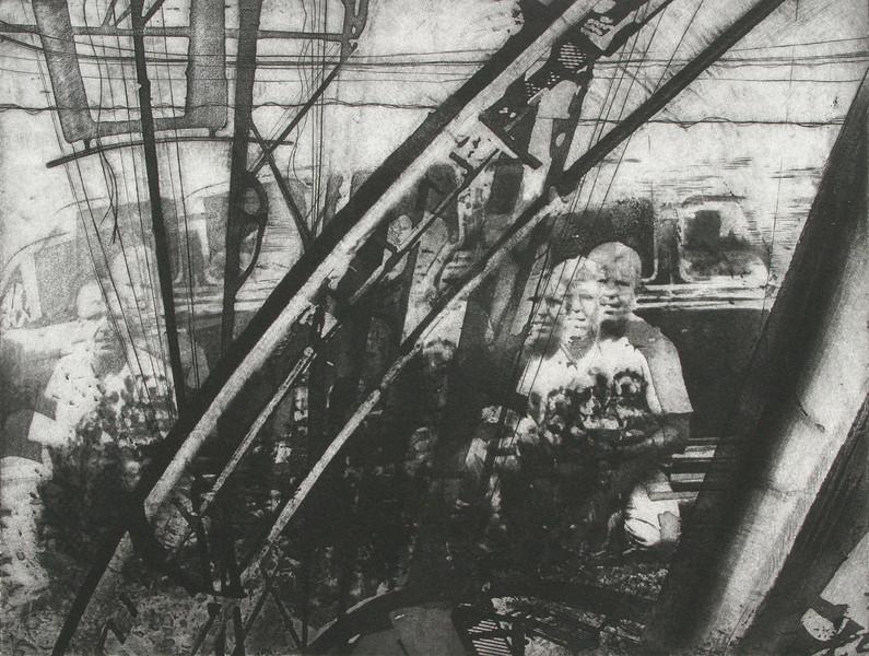 """Ironworks"" 11"" x 14"" etching, approximately 1990"
