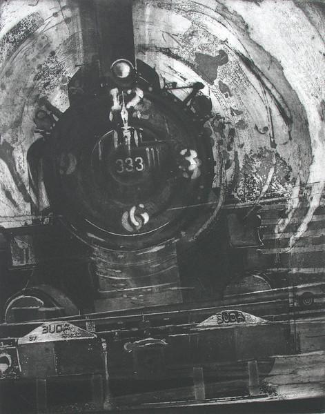 """Baton Rouge Buda"" 16"" x 20"" etching, 1990"