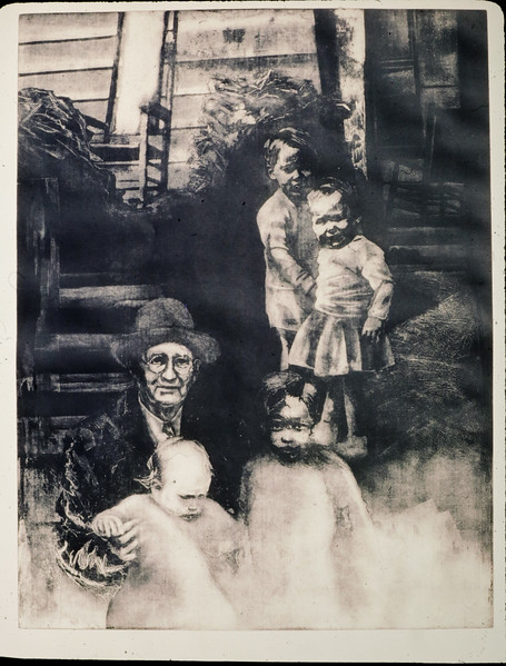 Wait-- Don't Go, intaglio, 3' x 4', 1991