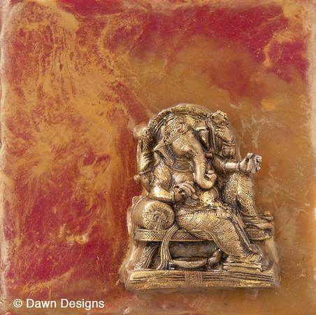 Ganesha on Red