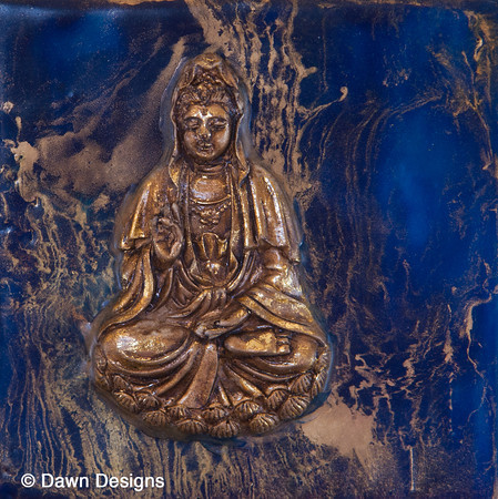 Kuan Yin<br /> Figure of Kuan Yin, known as the Mother of Prayer and Compassion with a prayer for blessings. She works with those in need of healing.  Dearly loved as one who hears the prayers and brings children, she is the Goddess of fecundity and mercy.