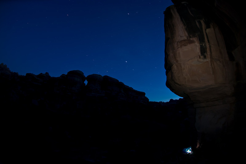 Camp in Salt Creek, Canyonlands.