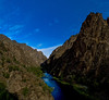 The inner gorge of the Gunnison River in the moonlight.