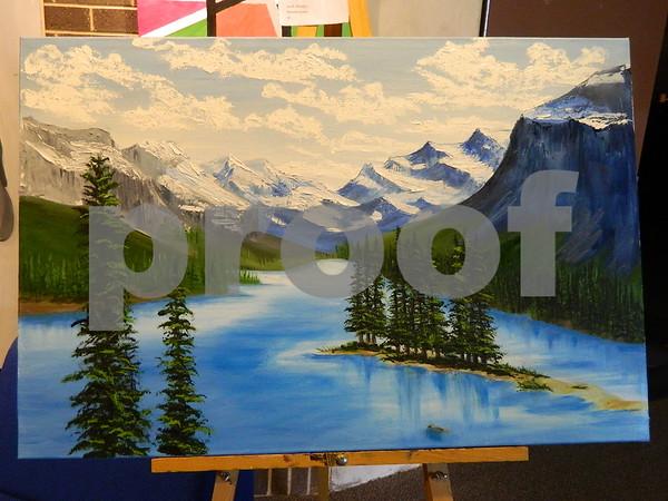 An oil painting by Jon R. Houston called Mountain Scene