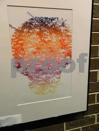 A digital drawing by Jennifer Scheidegger called Man of Many Words.