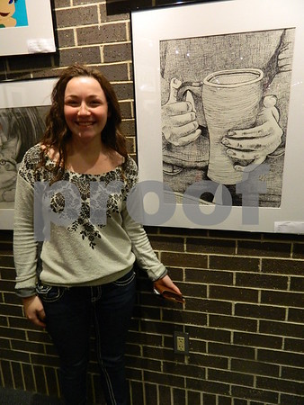 Aubrey Essing by her ink drawing called Cup.