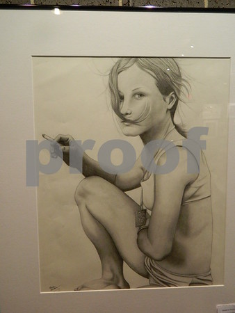 Another graphite drawing by Madeline Westrum called Here Come the Judge