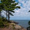 Lake Superior, Hunters Point, Copper Harbor, Michigan.