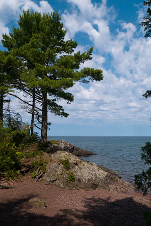 Lake Superior, Hunters Point, Copper Harbor, Michigan.