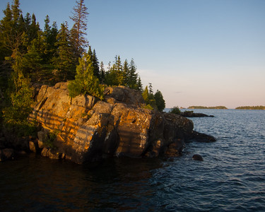 Evening Light, Rock Harbor, Isle Royale National Park, Michigan