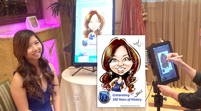 Live Digital caricatures by James Malia 7