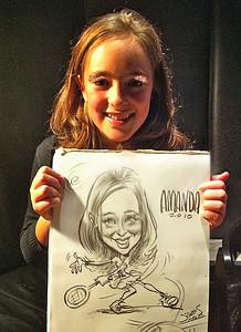 Tennis Amanda live caricature SLS