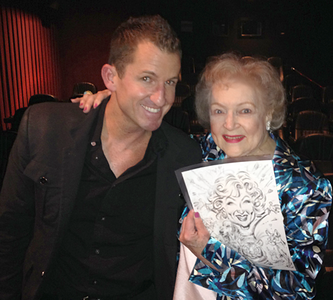 Not enough words could explain how grateful, lucky, and humbled I am to draw for one of the best humans to ever live on the planet, Betty White. Betty's private screening party for her NATGEO Wild Special on Big Cats, an Incredibly entertaining, educational, and funny documentary. Hugging Betty White was on the very top of my bucket list and I'll think of her profoundly genuine sweet kindness, humor, fast wit, and class everyday. She is literally probably the perfect human. Her small group of best friends , and family are just like her, just the kindest group of people one can imagine. Betty has been hosting shows on animals for years and has always invested much of her time in helping animals, studying them, and sharing the wonder of animals, especially large cats. Even wild animals can sense the genuine soul of Betty, as seen in the NATGEO WIld Doc. I could go on and on about Betty and her extraordinary friends…. I Love You Betty!!! THANK YOU!! http://channel.nationalgeographic.com/wild/big-cat-week/galleries/betty-white-goes-wild/at/unlikely-animals-friends1-2075189/ Edit