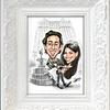 New York Plaza hotel fountain wedding caricature