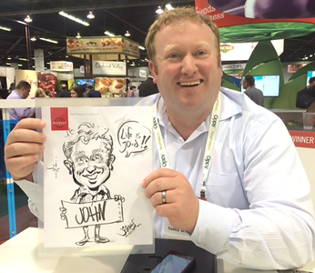 windset farms trade show caricature costco Anaheim Convention Center