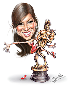 Go On Sandra bullock academy award caricature by james malia low res