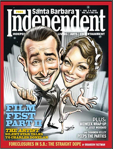 Santa barbara Independent Film Festival cover by James Malia the artist caricature