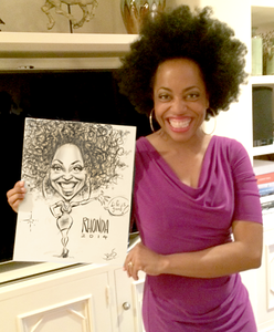 A caricature of the beautiful talented Rhonda Ross drawn at Ashlee Simpson/Evan Ross' engagement party!!