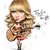 Taylor Swift caricature shake it up