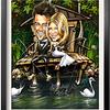 Josh Duhamel and Fergies wedding invitation caricature