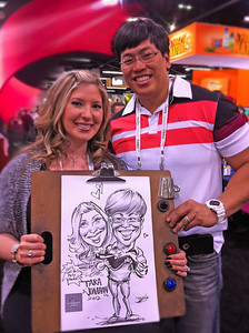 Anaheim Convention Center Windset Farms caricatures