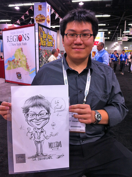 SA International Caricature Fresh Summit Windset farms caricature by james maia anaheim convention center