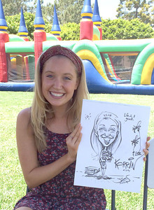 UCSB Freshman bbq event caricature 2 by James Malia