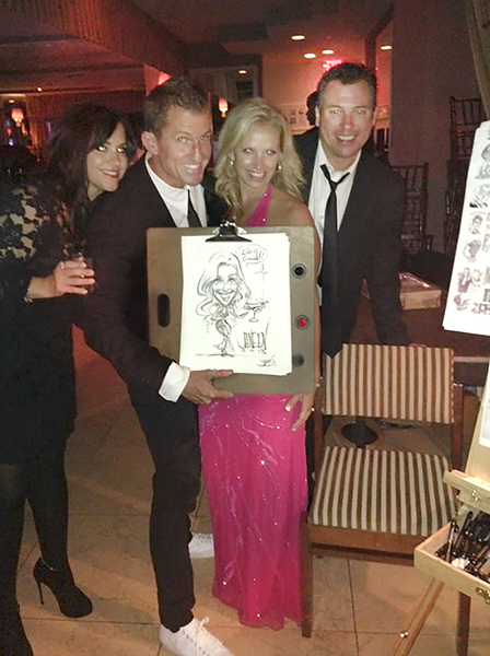 Caricature Of Janeen At John Stamos 50th Birthday Party The Sunset Tower Hotel