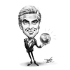 George Clooney caricature