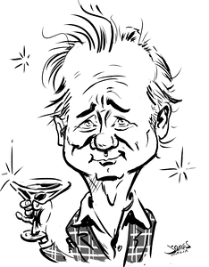 Bill Murray caricature toasting you